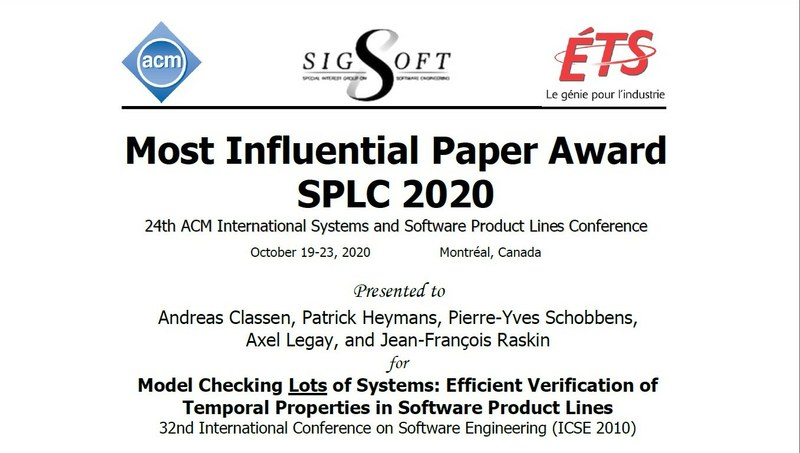 Most Influential Paper Award SPLC 2020